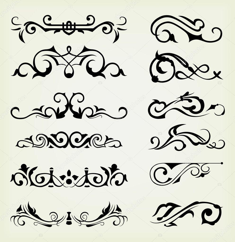 Decoraci n de p gina y elementos de dise o caligr fico vector de stock kreativ 11450191 - Elementos de decoracion ...