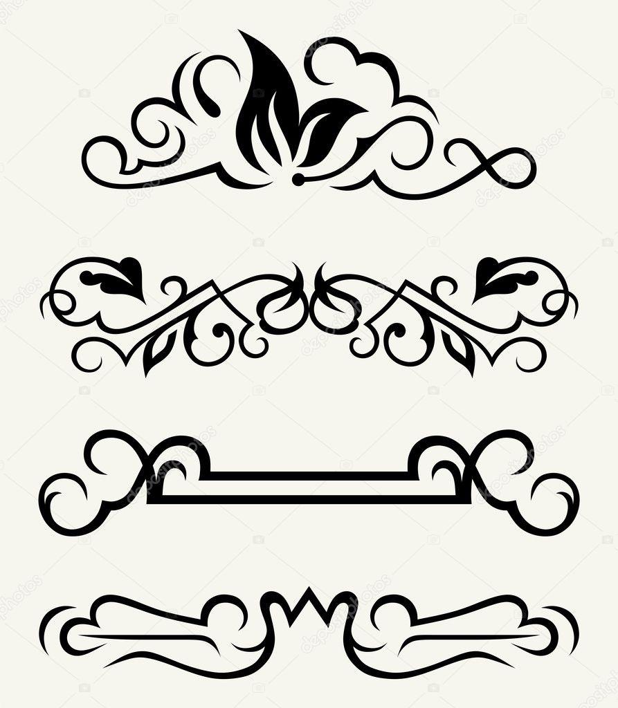 Decoraci n de p gina y elementos de dise o caligr fico vector de stock kreativ 11450606 - Elementos de decoracion ...