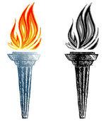 hořící pochodeň