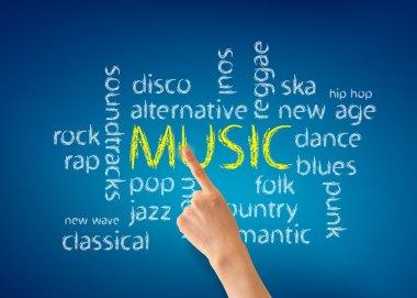 Music Word Illustration