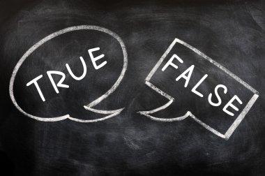 Speech bubbles for True and False