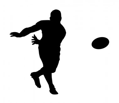 Sport Silhouette - Rugby Football Fast Backline Pass
