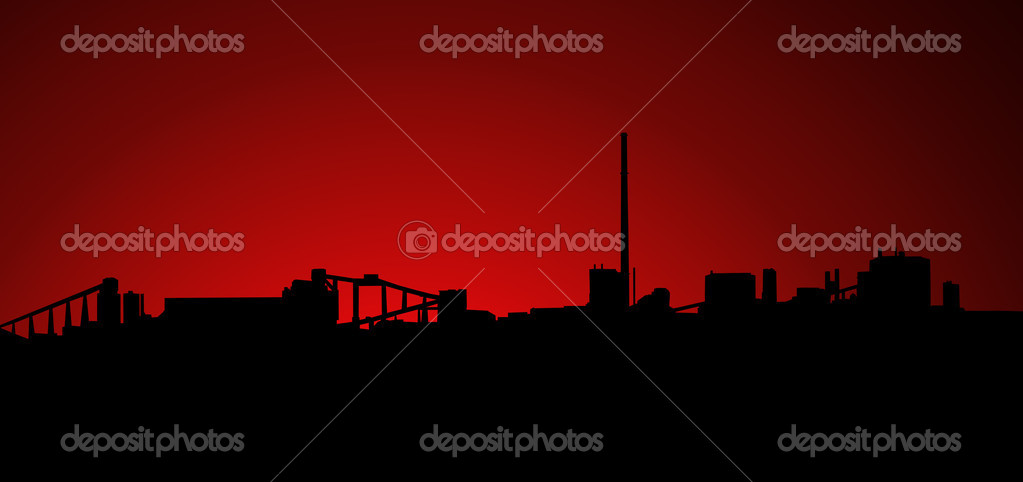 Mining Industry Sunrise Sunset Silhouette