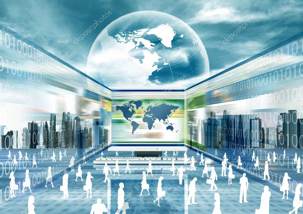 Vrtual E-Business world