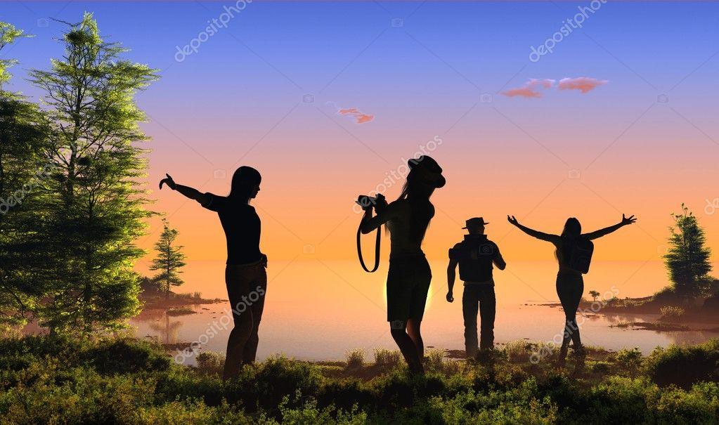 A group of tourists