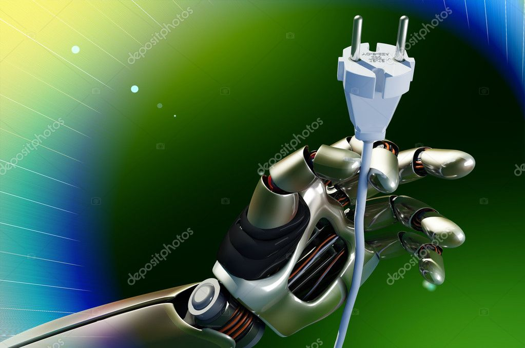The mechanical arm and a Electrical Power plug.