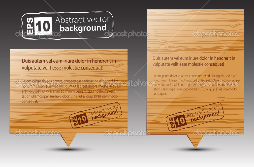 Vector wooden pointers.