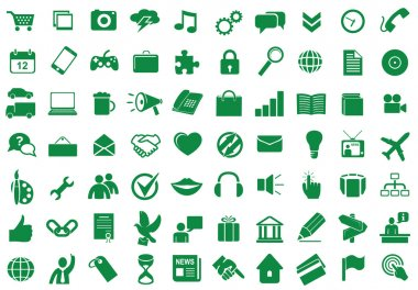 Set of functional and used web icons