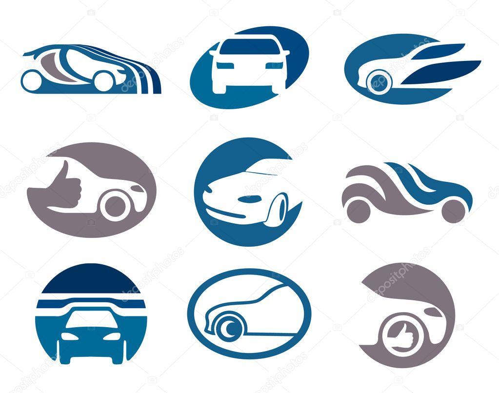 Set of car elements for your emblem or logo