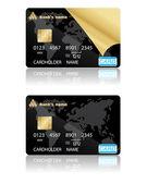 Fényképek hitelkártyák. vektoros illusztráció.