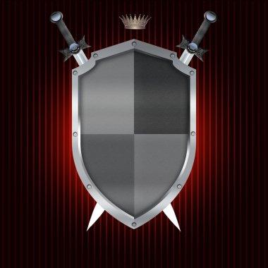 Heraldic shield and swords