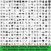 270 web, média, kancelář, nakupování, lékařské, eco, podnikání, armáda, hi-tech, různé ikony