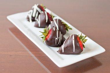 Dark cholate covered strawberries