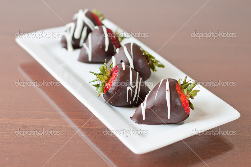 Dark cholate covered strawberries