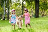 Fényképek Két fiatal lány futás-val Arany-Vizsla