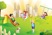 Fotografie Kids in the playground