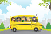 Photo Kids in school bus