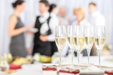 Aperitif champagne for meeting participants