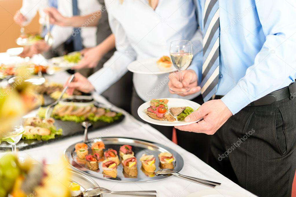Business take buffet appetizers