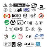 Abstraktní úřední povahy eco symboly sada