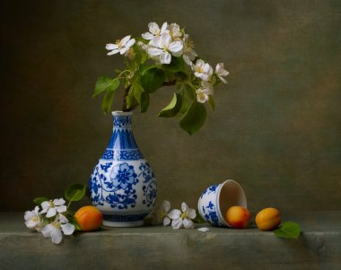 Still life with flowers of apple