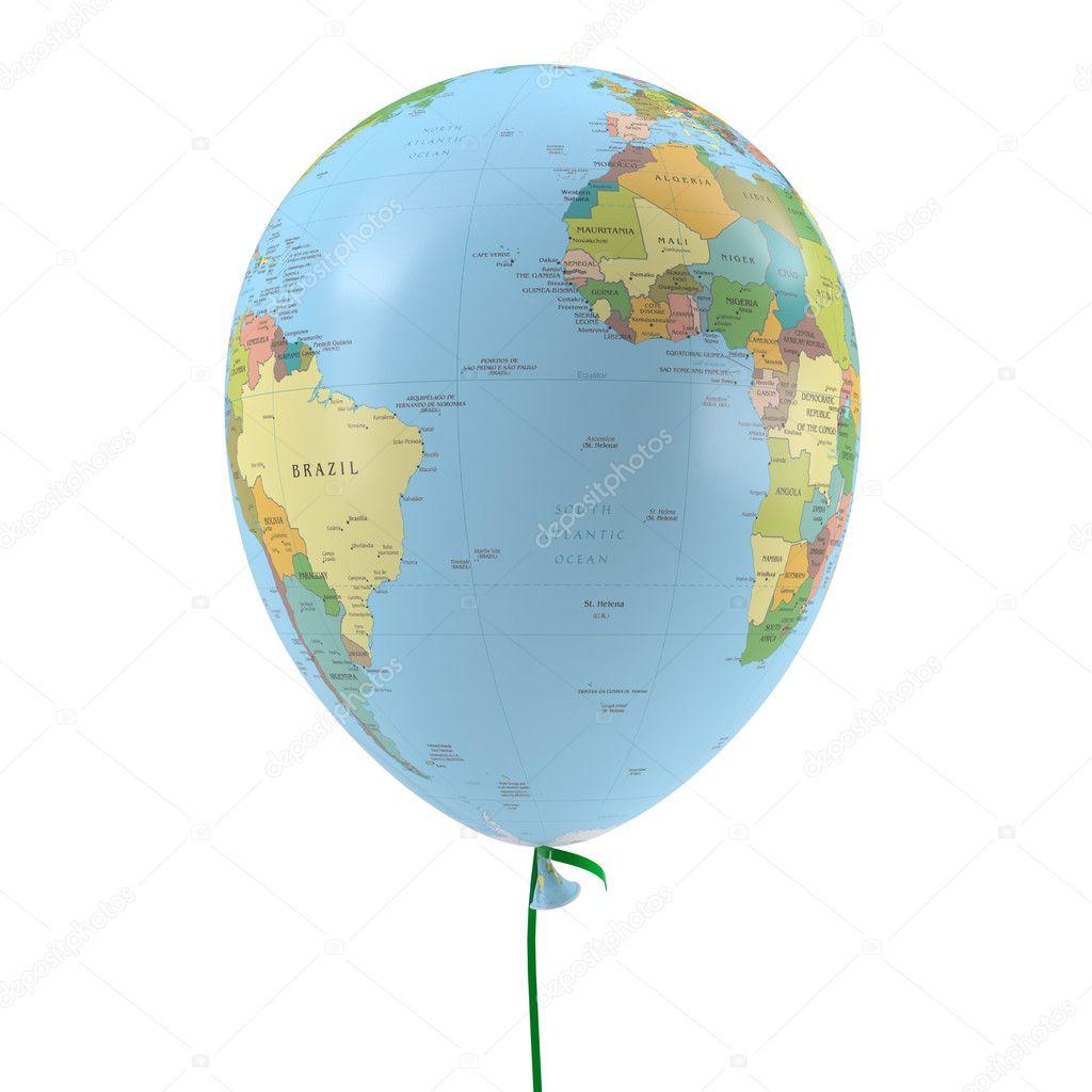 Воздушный шар на белом фоне 8