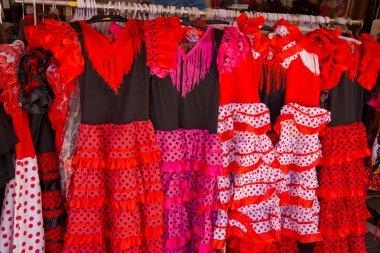Traditional spanish dresses for flamenco