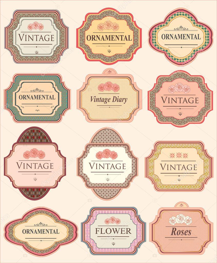 Etiquetas de equipaje vintage etiquetas