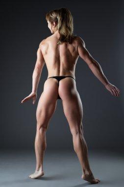 Heavy body builder woman posing naked