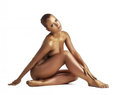 Amazing woman with pefect body posing nude