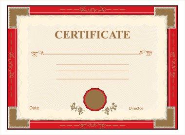 Certificate, diploma for print vector
