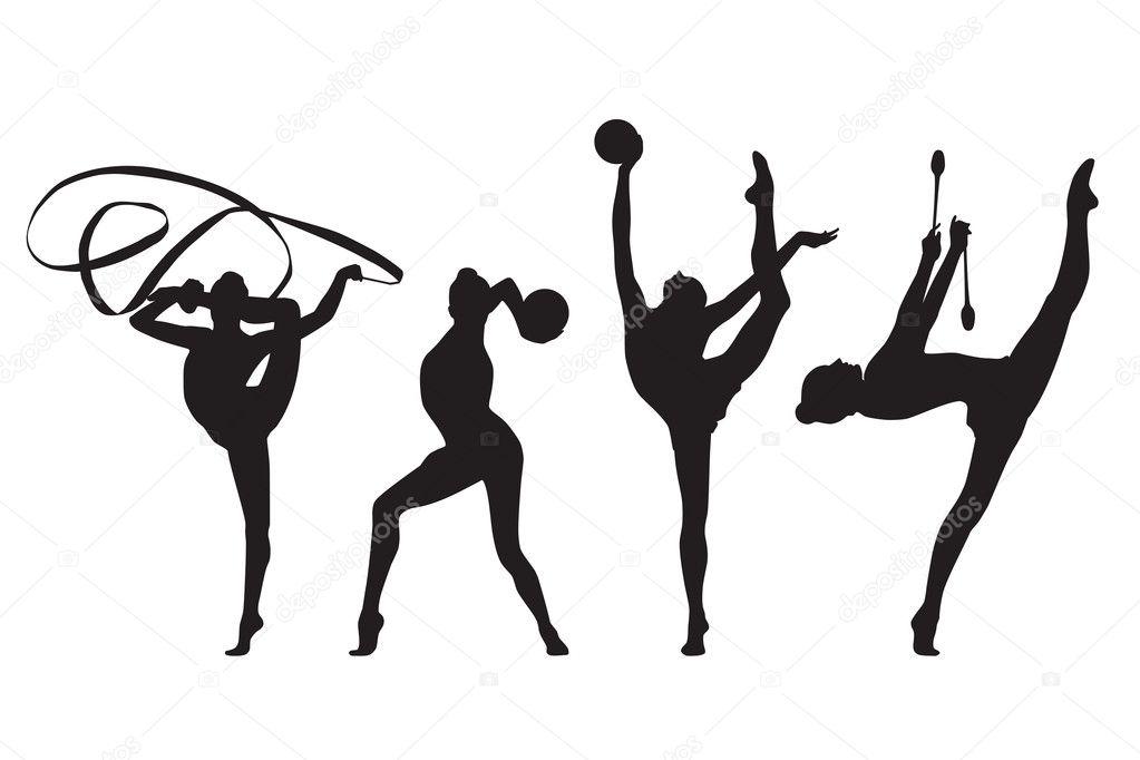 Sportovni Gymnastka Stock Vektory Royalty Free Sportovni Gymnastka