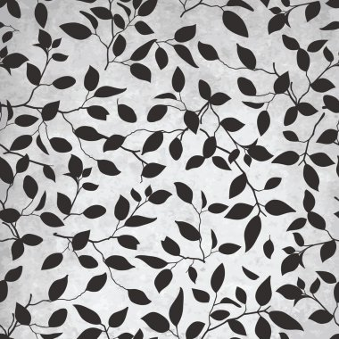 Abstract leaf pattern on grunge background clip art vector