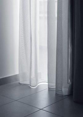Thin curtains soft light