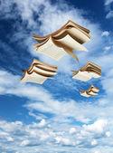 Fotografia quattro libri di volare sopra