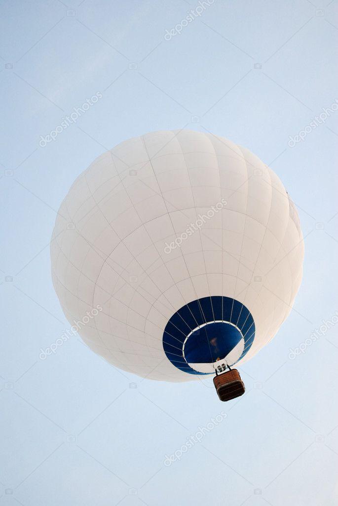 Hot air balloon on the sky.