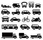 Fotografia set di icone di trasporto