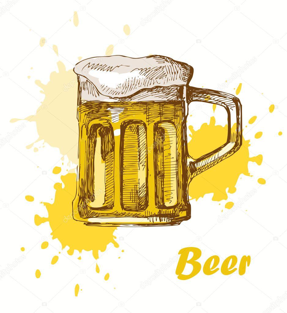 hand draw beer stock vector bioraven 10988297