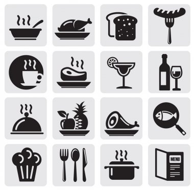 Icons set Restaurant