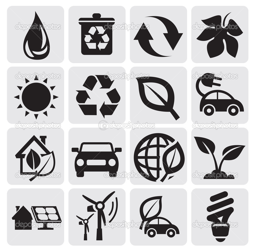 Eco energy icons