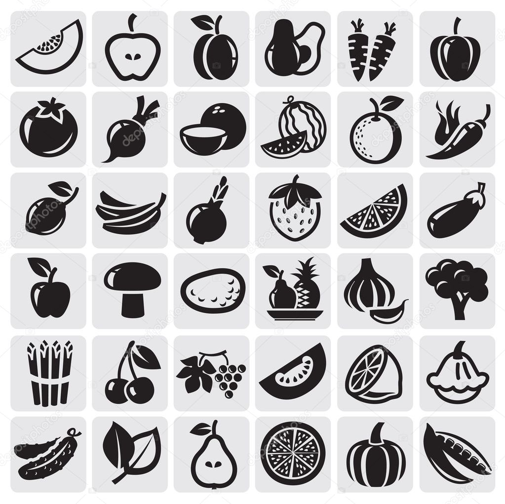 Fruit and Vegetables set