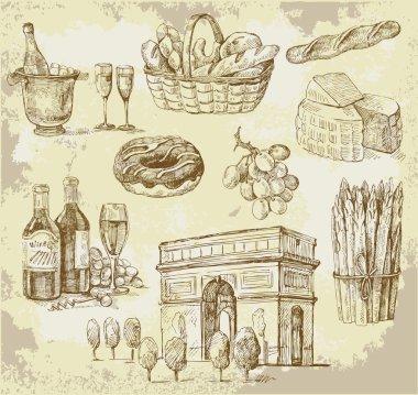 France-original hand drawn set
