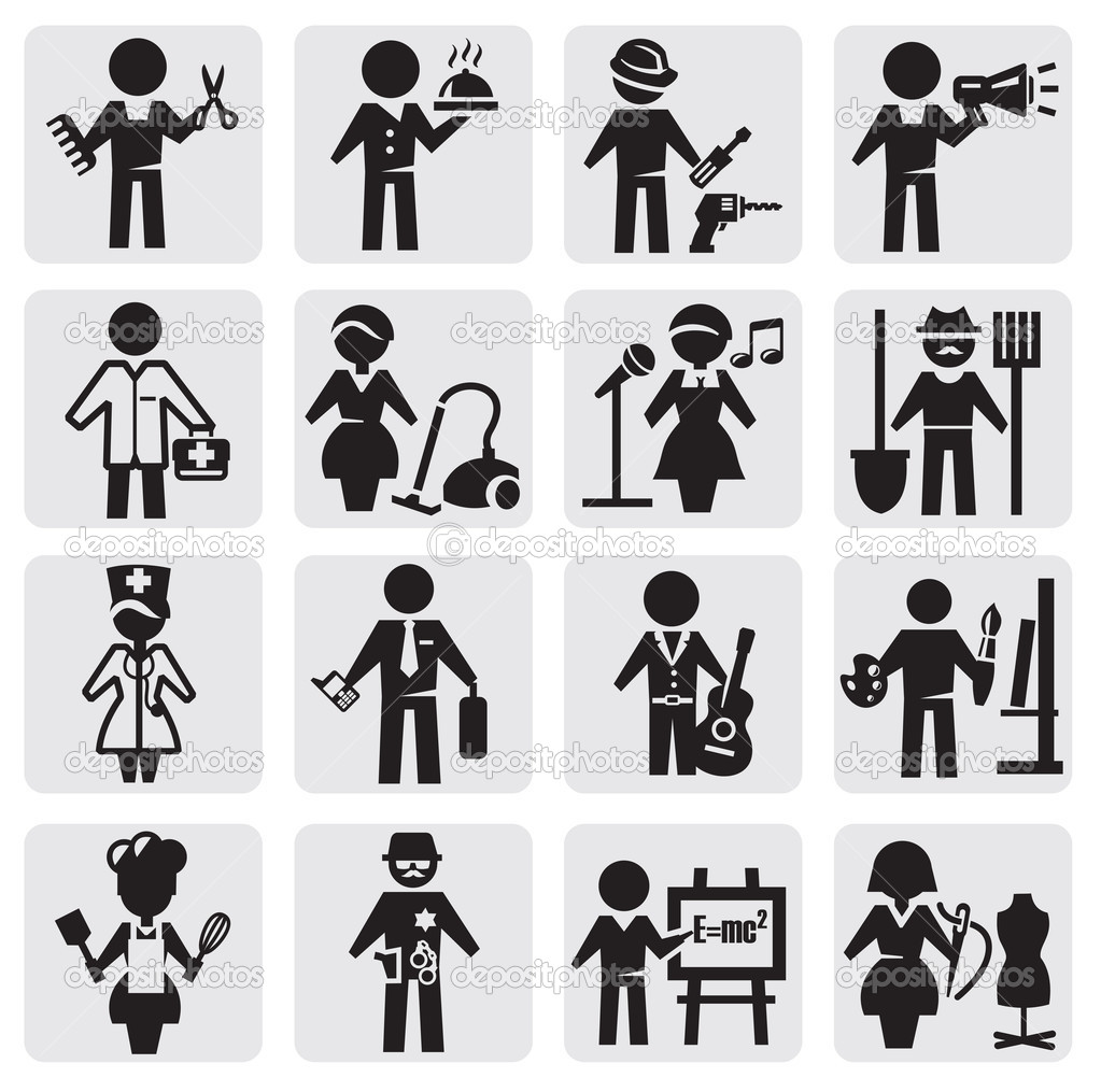 Occupations and professions set