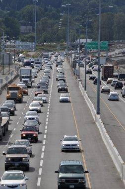 Traffic jam in Coquitlam