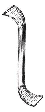 Crowbar, vintage engraving