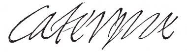 Signature of Catherine de Medici, Queen of France, wife of Henry