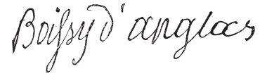 Signature of Francois Antoine de Boissy d'Anglas (1756-1826), vi