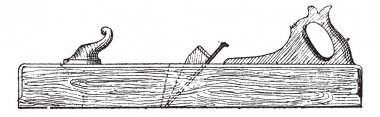 Jack plane, vintage engraving.