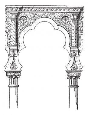 Lobe, vintage engraving