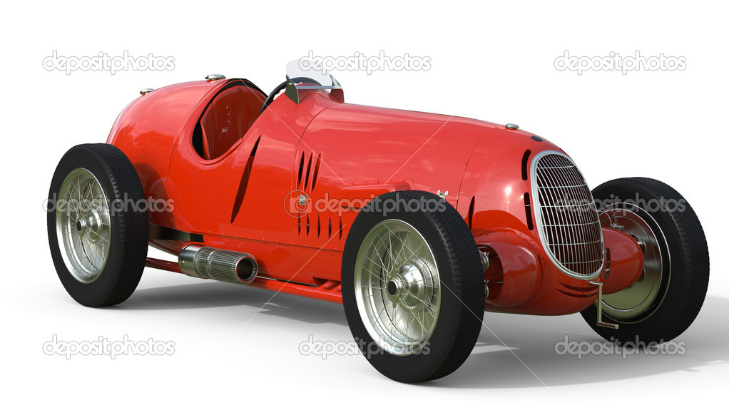 Front view of a red old race car – Stock Editorial Photo ...